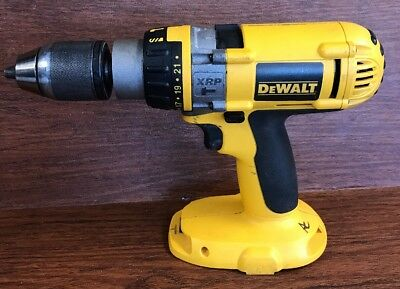 DEWALT DW988 18 Volt XRP Heavy Duty 1/2-Inch Hammer Driver Drill ! Works Good!