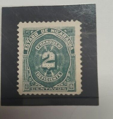 Stamp nicarague 1898 early issue MNH  - 2c  postage due -  Lot 32
