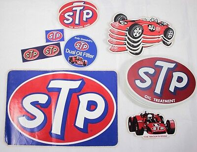 Lot of STP Dual Oil Filter Vintage Racing Car Decal Advertising Promo Stickers