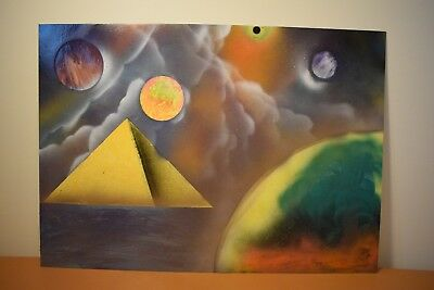 Spray Painting by Robert Ernutet - spray paints. Space, Planets, Cosmos, Worlds