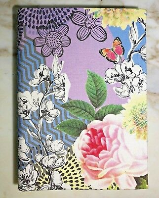 PAPERCHASE Notebook Journal Chevron FLORAL - Flex Linen Cover - Ruled 400 Pages