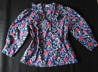 New German Bavarian Floral Trachten Blouse 10