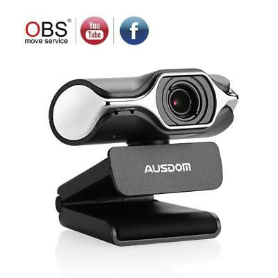 Ausdom Full HD Webcam 1080p, Live Streaming Camera, USB for Widescreen Video...