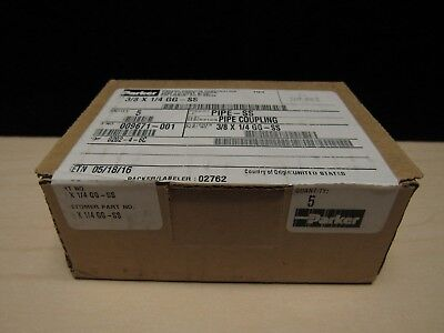 NEW SEALED PARKER	3/8X 1/4 GG-SS Pipe and Port Coupling GG BOX OF 5