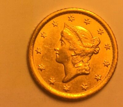 1852–O Classic Gold $1 Dollar Good Coin. Maybe Uncirculated or Close