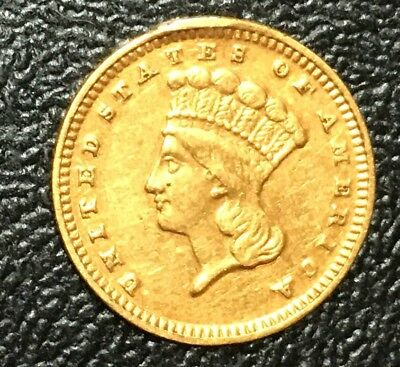 1869 Coronet Gold Dollar $1 Maybe AU or better than good