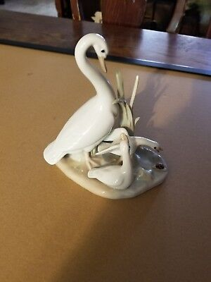Casdes Porcelain Goose With Young