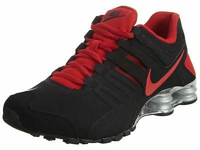 reputable site 25cc0 4fa49 Mens Nike Shox Current Premium Sneakers New, Black   Red Silver 633631-013