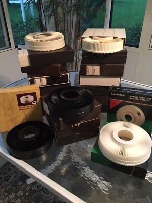 18 Rotary Slide Trays, mix of Hanimex and Sawyers, excellent condition