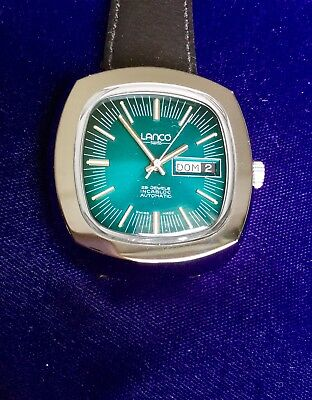 Lanco Automatic Swiss Made Watch 1960s New Old Stock Stainless Steel 36590