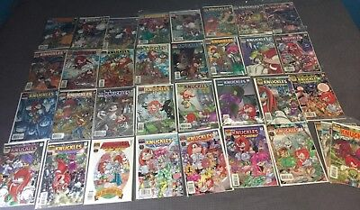 Sonic The Hedgehog MIX CHARACTER (Knuckles, Tails, Sally) Comics! *BUNDLE*