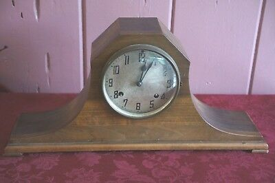 ANTIQUE New Haven Tambour No 56 Pendulum Wind-up Mantle Clock CIRCA 1910