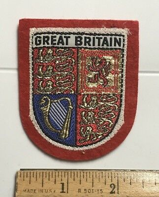 GREAT BRITAIN England UK Coat of Arms Souvenir Red Felt Patch Badge