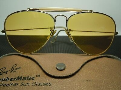 RAY BAN  B&L  Outdoorsman Ambermatic 1/30 10K G.O. Vintage 80's with its case