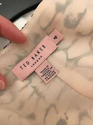 Ted Baker Ladies Maxi dress for Wedding Outfit  floor length animal print 12/ 14
