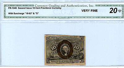 Fractional Currency, Second Issue, 10 cent, certified VF20
