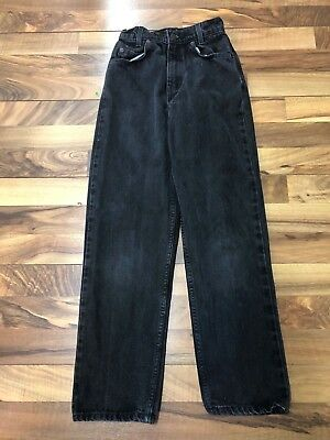 Vintage Levi's Jeans Size 12 Slim Black Denim White Tab Brown Tag 31450-4159 GUC