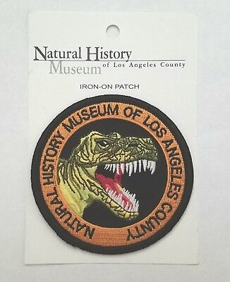 UNUSED Los Angeles Natural History Museum T REX PATCH Jurassic Park / World Sale