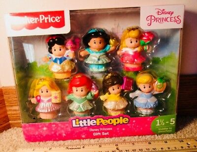 Fisher Price Little People Disney Princess 7 Princesses Gift Set. A+Seller. Mint