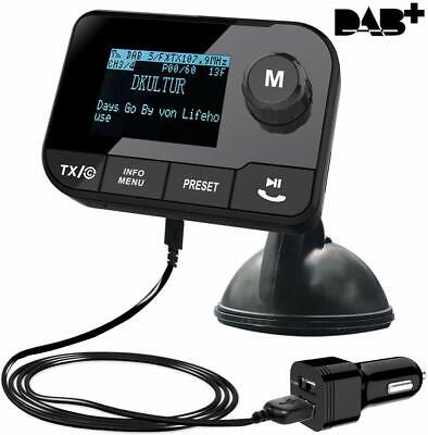 Car DAB+ Radio FM Transmitter Bluetooth Receiver Hands Free TFT Color Display