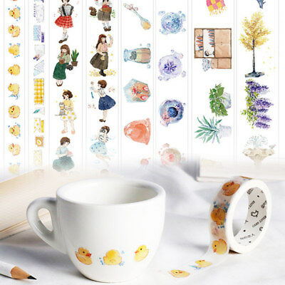 Cute Cartoon Washi Masking Craft Adhesive Tape Scrapbooking Sticker Decoration
