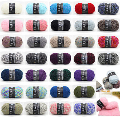 Lot of Luxury Mohair Cashmere Yarn 100g Skein Chunky DIY Hand Soft Knitting Wool