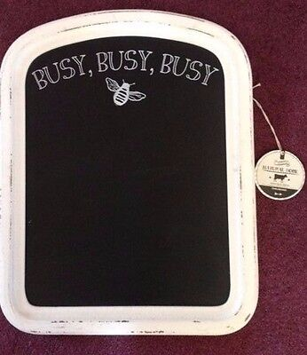 Natural Home Chalkboard Distressed White Wood Shabby Chic Wall Decor Busy Bee