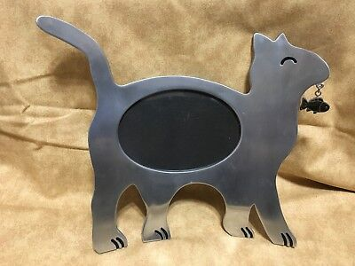 Free-standing, Metal Cat picture frame !!