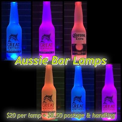 Great Northern Beer - Original - Beer bottle LED bar lamp ( AUSSIE BAR LAMPS )