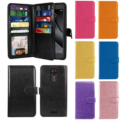"""For Coolpad T-Mobile Revvl Plus 6.0"""" 3701A Flip Wallet TPU Silicone Case Cover"""