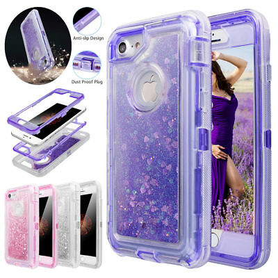 For Samsung S9/S8 Plus Glitter Liquid Bling Sparkle Protective Phone Case Cover