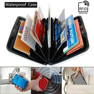 Aluminum Wallet RFID Blocking Crash Proof Credit Card Holder Case Pocket US