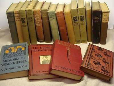 ca1900 LOT of 18 antique collection Volumes books SHERLOCK HOLMES A CONAN DOYLE