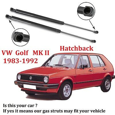 Pair Tailgate Boot Gas Support Struts for VW Golf MK2 1.0 1.3 1.6 1.8 1983-1992
