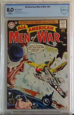 ALL AMERICAN MEN OF WAR #96 VF, CBCS 8.0 white pages, pristine case, like CGC