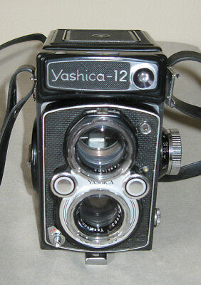 Yashica Model 12 TLR - Great Condition, Working Meter and Case!