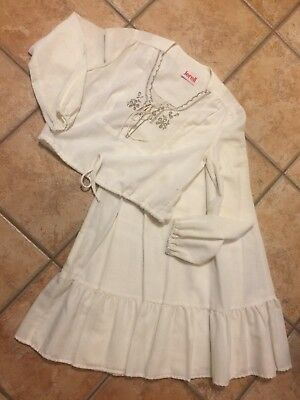 Jerell Of Texas Vintage S Skirt Crop Top Peasant Boho Set 60-70S New S 5 Hippy