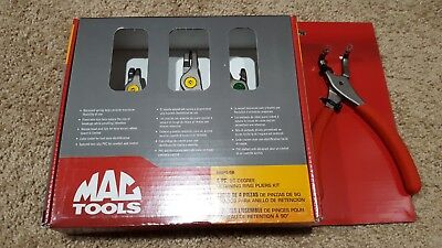 New Mac Tools 4Pc 90 Degree Retaining Snap Ring Pliers Set Srps4B