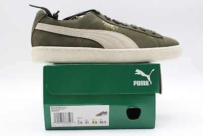 Puma Men s Suede Classic+ Olive Night-Birch Athletic Sneaker 363242-27 (New) f2386af6a