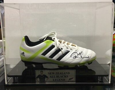 RICHIE McCAW SIGNED BOOT IN DISPLAY CASE