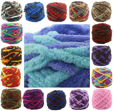 10BallX100G Super Chunky Single strand chenille cashmere yarn Knitting Wool