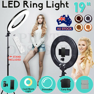 "19"" 5500K Dimmable Diva LED Ring Light Diffuser Stand Make Up Beauty Studio NEW"