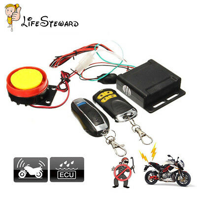 12V Car Security Alarm System Remote Control Motorcycle Bike Scooter  Anti-theft