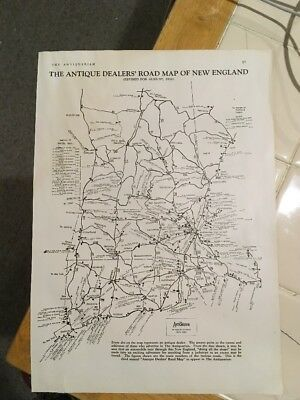 The Antiquarian, August 1928, Antique Dealers Map of New England