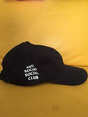 "b2ed344d677b ANTI SOCIAL SOCIAL CLUB   ASSC ""Weird"" Strapback Black Cap BRAND NEW!  AUTHENTIC"