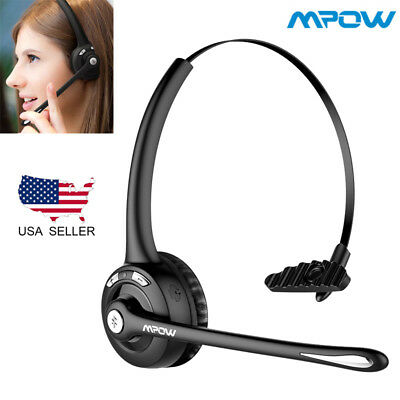 Mpow Bluetooth Cell Phone Headset W/ Mic Over-Head Earpiece On Ear Car Headphone