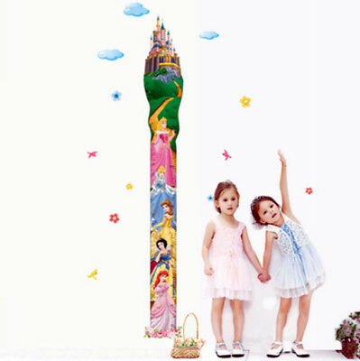 Castle Princess Height Measure Wall Sticker Growth Chart Girl Room