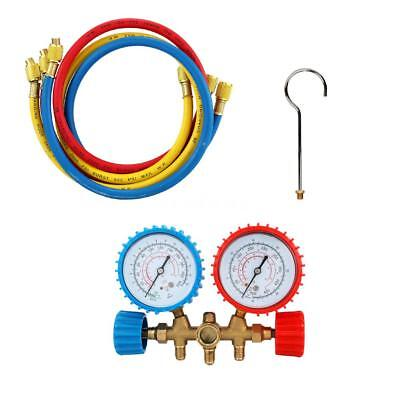 2 Way Manifold Vacuum Gauge Set for R404A R134A R22 R12 A/C Refrigeration T2X8