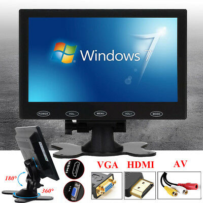 1024*600 TFT LCD 7 inch CCTV PC Monitor Mini HD Screen AV/RCA/VGA/HDMI AU STOCK