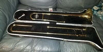YAMAHA TROMBONE YSL-354 w/case + vincent bach 12C **NEEDS CLEANED FIXED ROUGH